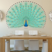 Peacock & Feathers Wall Sticker Colourful Animals Wall Decal Girls Bedroom Decor available in 8 Sizes XXX-Large Digital