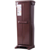 Imported antimicrobial double layer large trash cans living room home covered creative trash can 32 * 27 * 81cm , brown