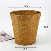 Fashionable straw baskets household living room bedroom office storage basket 18 * 26 * 25CM , log colour