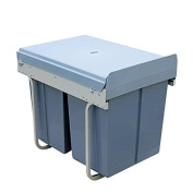 Kitchen Recycling Waste Box Pull Out Soft Closed Trash Recycle Bin Grunge Grey , 300 cabinets, double barrels, 20 litres, *10 litres