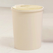 The utility model relates to a press type household garbage can, a deodorising toilet, a living room and a kitchen, which can be hand held round,Beige 8.2L