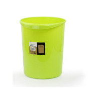 Creative green plastic trash cans kitchen bathroom living room without cover anti-drop pressure pressure debris bucket green purple 12L