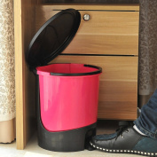 Fashion creative plastic trash cans home living room kitchen bathroom office foot trash can