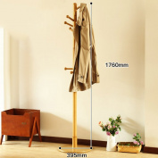 HWF Hat Coat Stand Solid Wood Traditional Floor-Standing Hat And Coat Stand Umbrella Stand 3 Colours Optional
