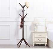 ZJM- Wood Clothes Tree Simple Hatstand Coatrack Hat Rack crotch base 175cm