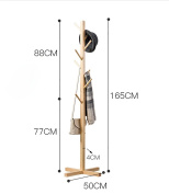 ZJM- Wood Clothes Tree Simple Hatstand Coatrack Hat Rack Joint Spider 165cm
