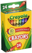 Crayola Box of Crayons Non-Toxic Colour Colouring School Supplies, 24 Count, 3 Pack