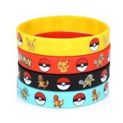 24 Count Rubber Bracelet Wristband - Birthday Party Favours Supplies
