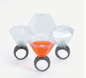 Plastic Wedding Ring Shot Glass (24 Shot Glasses) by FX