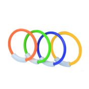 WOTOW Dive Rings, 4 Piece Plastic Diving Rings Underwater Swimming Toy Rings Dive Training Gift for Boy Girl Students Recreation Play Summer Pool Toy Assorted Colours Dive Rings Kids Pool Water Game