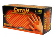 Adenna Catch 8 mil Nitrile Powder Free Gloves (Orange, X-Large) Box of 100
