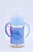 XW Baby Ppsu Bottle Wide Calibre Nipple with Handle Drop Anti-flatulence High Temperature Big Bottle,Blue,300ml