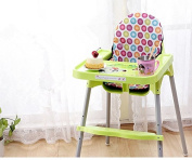 Baby Highchair Cushion Waterproof Infant High Chair Cover (Multicoloured dots)