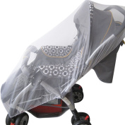 Jiyaru Baby Stroller Mosquito Net Infant Universal Carriers Anti Insect Mesh Netting White