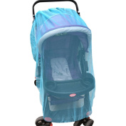Jiyaru Baby Stroller Mosquito Net Infant Universal Carriers Anti Insect Mesh Netting Blue
