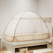Children's Mosquito Nets Free Installation Of Three-door Zipper Mosquito Net For:1.2m/1.35m /1.5m/ 1.8m bed ( Colour : 1002 , Size : 1.35m