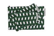 Raffia Green Cotton Pouch (S)