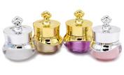 Le Fu Li 4Pcs 5g Crown Shape Plastic Refillable Bottles Empty Pot Bottles Makeup Jar Travel Face Cream Lotion Cosmetic Container
