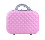 Genda 2Archer Small Cosmetic Suitcase Diamond Hard Shell Luggage Vanity Case 36cm