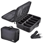 AW 33cm 1200D Oxford Makeup Train Case Artist Cosmetic Organiser Storage Bag Soft Protable Professional