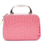 New Women Waterproof Cosmetic Bag Storage Bag ,Professional Make-up Fashionista Portable Crocodile Pattern Cosmetics Bag,Nacome