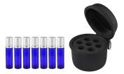 BeeChamp Essential Oil Storage Box Roller Bottle Holder EVA Carrying Case for 7pcs 10ml Bottles