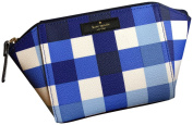Kate Spade Grove Street Cheque Cosmetic Make-up Travel Bag Case