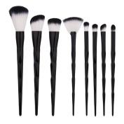 Makeup Brushes Set Cinidy 8pcs Black Unicorn Handle Make Up Brush Eyeshadow Eyeliner Powder Foundation Blush Cosmetic Brush Beauty Tools