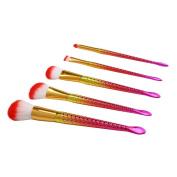Sunsee 5PCS Pro Soft Contour Face Powder Foundation Blush Brush Makeup Cosmetic Tool