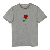 kaiCran Women Summer Embroidery Short Sleeve Blouse