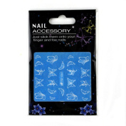 Ec Luminous Butterfly Nail stickers Lovely Luminous Nail Art Stickers Decals Decoration Butterfly Design