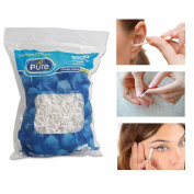 1000 Ct Cotton Swabs Double Tipped Applicator Q Tip Clean Ear Wax Makeup Remover