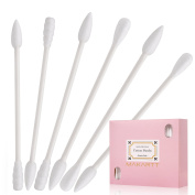 MAKARTT Individual Packaging Makeup Cotton Swabs 100pcs Double Tipped Versatile Cotton Tipped Applicators