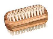 Waxed Olive Wood Nail Brush With Natural Pig Bristles, 8.9cm by 4.4cm , Nessentials