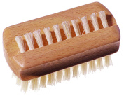 Natural Pig Bristle Travel Nailbrush with Oiled Beechwood Handle, 6cm by 2.9cm by Nessentials