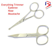 BeautyTrack Nail Care Cuticle Scissor - Beauty Manicure - Toenail Small Nail - Art - Trimmer - Shear - Curve 8.9cm Pack Of 2 - Moustache - Beard Trimmer - Finger Nails Cutters By