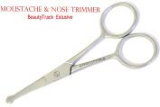 BeautyTrack- Nose Scissor Moustache Scissors Baby Hair Trimming Scissor Grooming Beard Scissor Eyebrow Scissor (Safety Scissor) by BeautyTrack Ltd