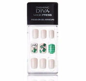 "Dashing Diva Magic Press ""Cactus Pot"" Full Cover Gel Nail Tips, Easy to attach without Glue (Asian Type, Disposable) MDR013"