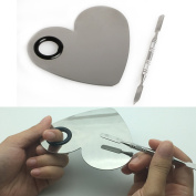 Kangnice Stainless Steel Nail Foundation Mixing Palette Spatula Makeup Tool