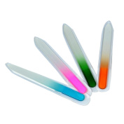 Iuhan New 4PCS/Set Durable Crystal Glass Nail File Buffer Art Files Manicure Device Tool for Nail Care