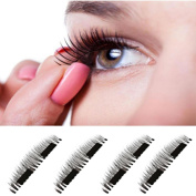 False Eye Lashes Natural Looking ,Lavany® 3D Reusable False Magnet Eyelashes Ultra-thin 0.4mm Magnetic Eye Lashes For Make up