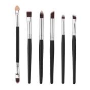 Makeup Brush,6Pcs Cosmetic Brush Lip Makeup Brush Eyeshadow Brush Makeup Brush Set With Wooden Handle GR705