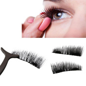 Ecosin Fake Eyelashes Ultra-thin 0.2mm Magnetic Eye Lashes 3D Reusable False Magnet Eyelashes