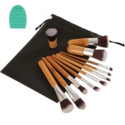 Angeltyr Makeup Brushes Set - Premium Synthetic Kabuki Cosmetics Foundation Blending Blush Eye Shadow Powder Brush Makeup Brush Kit and Brush Egg