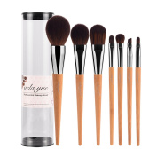 vela.yue Pro Makeup Brushes Set 7pcs Travel Face Cheek Eyes Lips Beauty Tools Kit with Case Cruelty Free Technology Slim Brush Collections