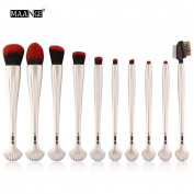 Lanhui_New Exquisite 10pcs Cosmetic Makeup Brush Blusher Eye Shadow Brushes Set Kit