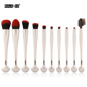 NEW 10pcs Cosmetic Makeup Brush Blusher Eye Shadow Brushes Set Kit,Nacome