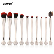 New 10PCS Makeup Brushes Set ,Sexyp Cosmetic Makeup Brush Blusher Eye Shadow Brushes Set Kit