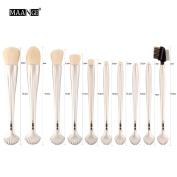 NEW 10pcs Cosmetic Makeup Brush Blusher Eye Shadow Brushes Set Kit,Nacome