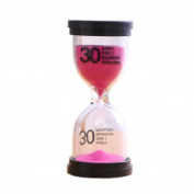 Colourful Sand Timer Hourglass Sandglass Small Ornaments Dropping Ueasily, 30 minutes + Pink